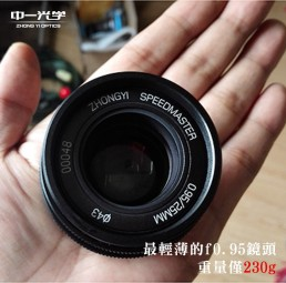 SpeedMaster 25mm F0.95 for M4/3 Micro 4/3 MFT微單眼相機超大光圈高速鏡頭