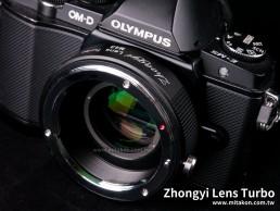減焦環 2代 Lens Turbo II EOS EF-M4/3 MFT