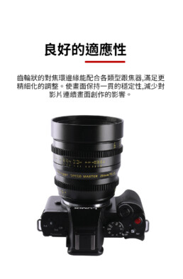 (客訂商品)中一光學 電影鏡頭系列 35mm T1.0 For Sony E-mount E口 索尼 大光圈/手動鏡頭 (限APS-C)